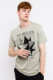 Muška majica MF No Rules Beige