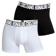 2 pack muških bokserica CR7 CRISTIANO RONALDO Black White