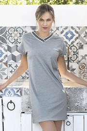 Ženska ljetna haljina Corfu siva