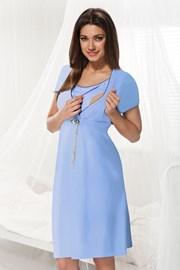 Trudnička spavaćica za dojenje Dorota, plava