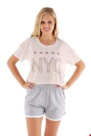 Ženska pidžama NYC ružičasta