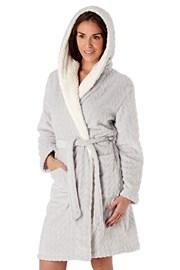Ženski topli kućni ogrtač Sofie siv
