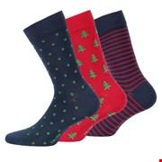 3 pack muške čarape s uzorkom 999