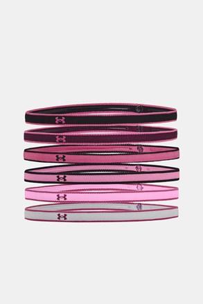 6 PACK ružičastih sportskih traka za kosu Under Armour