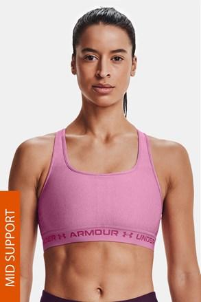 Ružičasti sportski grudnjak Under Armour Crossback Heather