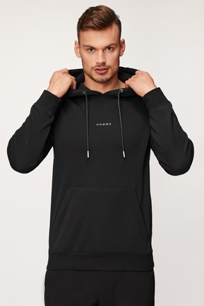 Černá majica s kapuljačom Selected Homme Garland