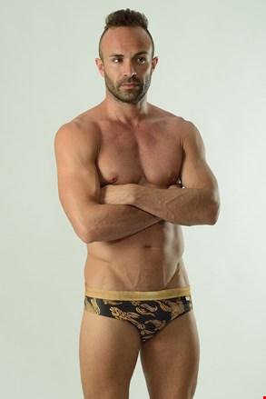 Muški slip kupaći kostim GERONIMO Cyprinus crno-zlatni
