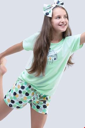 Ljetna pidžama za djevojčice Cats aqua