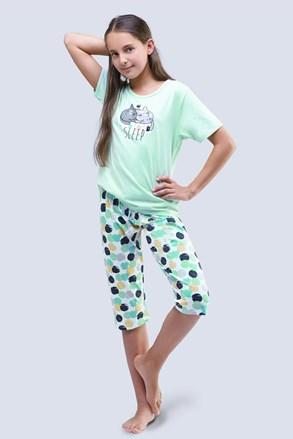 Pidžama za djevojčice Cats aqua