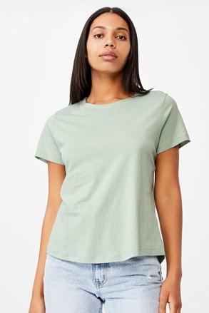 Ženska majica kratkih rukava basic Crew zelena