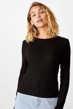 Ženska majica dugih rukava basic Turn crna