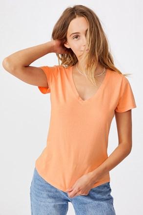 Ženska majica kratkih rukava basic One apricot