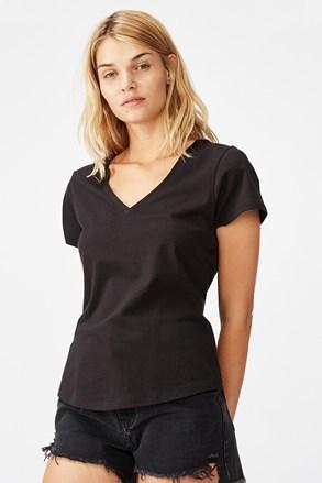 Ženska majica kratkih rukava basic One crna