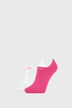 2 PACK ženskih čarapa Calvin Klein Leanne ružičasto-bijele