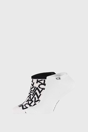 2 PACK bijelih čarapa Calvin Klein Deangelo