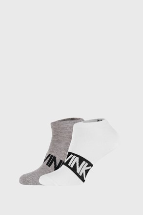 2 PACK sivo bijelih čarapa Calvin Klein Dirk