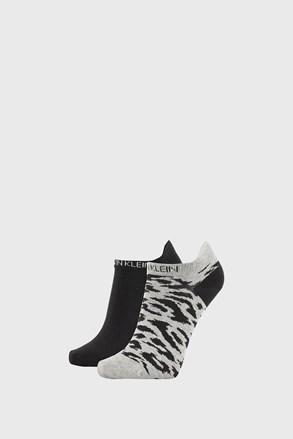 2 PACK ženskih čarapa Calvin Klein Libby sivo-crne