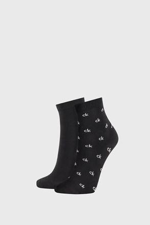 2 PACK crnih ženskih čarapa Calvin Klein Gretchen