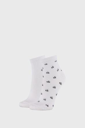 2 PACK bijelih ženskih čarapa Calvin Klein Gretchen