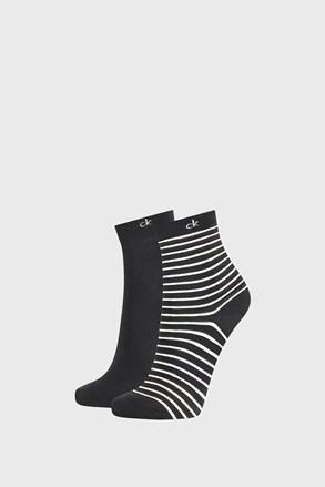 2 PACK ženskih čarapa Calvin Klein Lilly crne