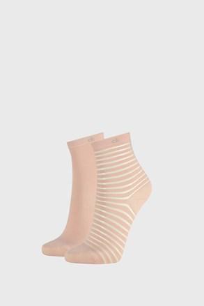 2 PACK ženskih čarapa Calvin Klein Lilly ružičaste