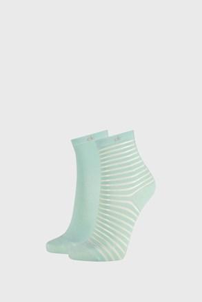 2 PACK ženskih čarapa Calvin Klein Lilly zelene