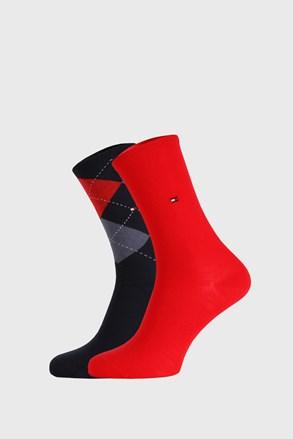 2 PACK ženskih čarapa Tommy Hilfiger Check