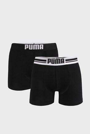 2 PACK crnih bokserica Puma Placed Logo