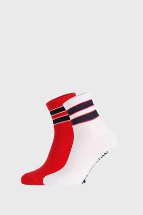 2 PACK crveno-bijelih čarapa Champion Legacy