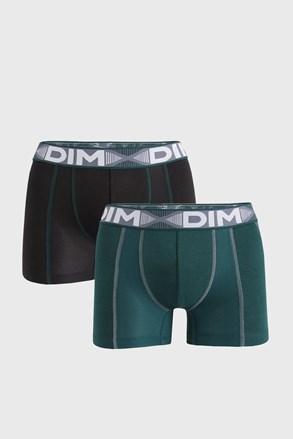 2 PACK crno-zelenih bokserica DIM Flex Air