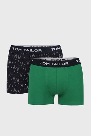 2 PACK plavozelenih bokserica Tom Tailor