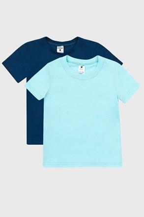 2 PACK plavih majica za dječake
