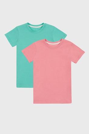 2 PACK basic majica za djevojčice