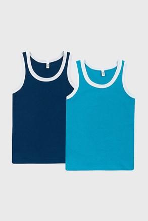 2 PACK plavih majica bez rukava za dječake