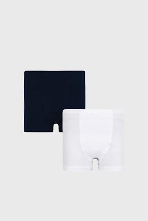 2 PACK plavo-bijelih bokserica za dječake Basic