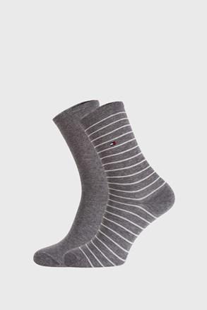 2 PACK sivih ženskih čarapa Tommy Hilfiger Stripes