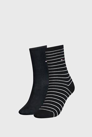 2 PACK ženskih čarapa Tommy Hilfiger Small Stripe Black
