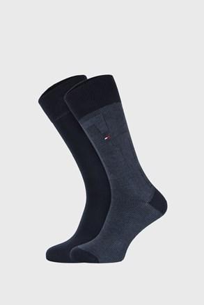 2 PACK tamnoplavih čarapa Tommy Hilfiger Rib