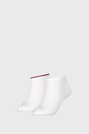 2 PACK ženskih čarapa Tommy Hilfiger Waffle White