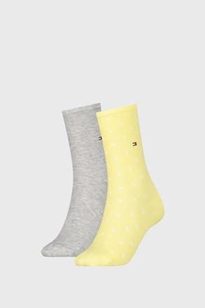 2 PACK ženskih čarapa Tommy Hilfiger Dot Yellow