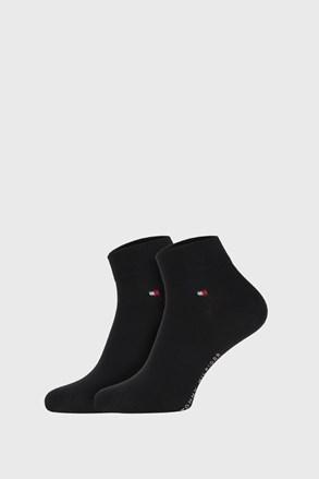 2 PACK crnih čarapa Tommy Hilfiger Quarter