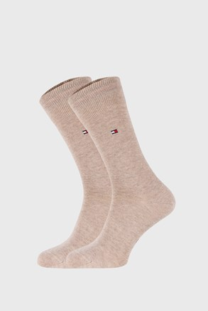2 PACK čarapa Tommy Hilfiger Classic bež boje