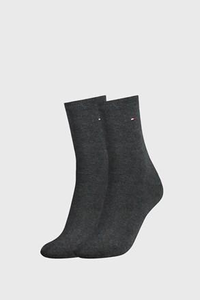 2 PACK tamnosivih ženskih čarapa Tommy Hilfiger Casual
