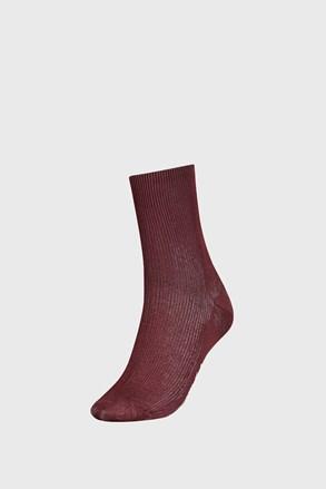 Smeđe ženske čarape Tommy Hilfiger Small rib