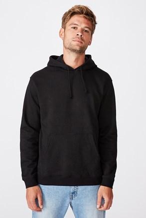 Crna majica s kapuljačom Essential Fleece