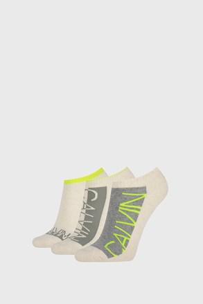 3 PACK ženskih čarapa Calvin Klein Nola bež