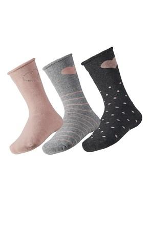 3 pack dječjih toplih čarapa Love