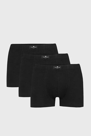 3 PACK crnih bokserica Tom Tailor Hip