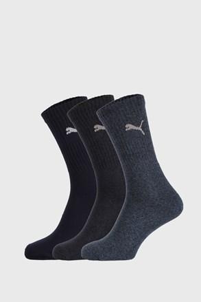 3 PACK tamnoplavih čarapa Puma Sport
