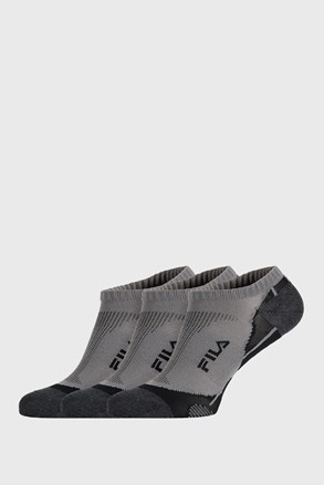 3 PACK sivih čarapa FILA Invisible